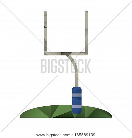 american football goal post abstract geometric vector illustration eps 10