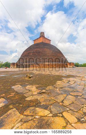 Anuradhapura Jetavanaramaya Dagoba Centered Sky