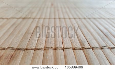 Bamboo texture with front focus and blur Background