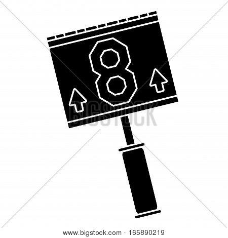 silhouette down marker american football vector illustration eps 10