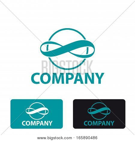 Vector stylized sign infinity, three logo isolated