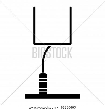 silhouette american football goal post vector illustration eps 10
