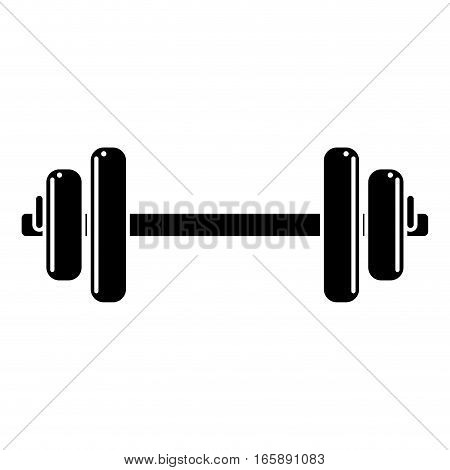 silhouette weight barbell trainer player vector illustration
