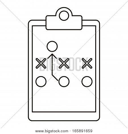board tactical diagram american football outline vector illustration eps 10