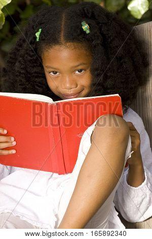 Portrait of an African American little girl.