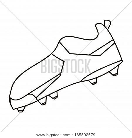 american football boot shoes spiked outline vector illustration eps 10