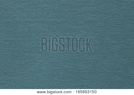 background and texture of blue green color of corrugated fabric of jersey of big resolution