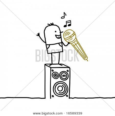 man & karaoke