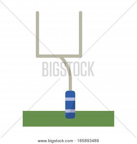 american football goal post vector illustration eps 10
