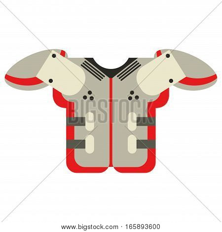 shoulder pad american football equipment protection vector illustration eps 10