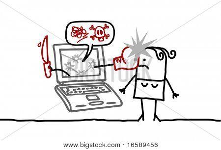 woman & cyberbullying
