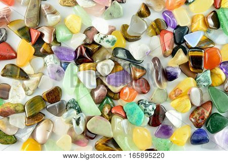 Closeup colorful stones texture as abstract background