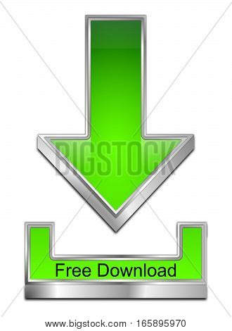 glossy green Free Download Symbol - 3D illustration