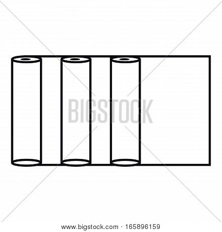 Fax paper icon. Outline illustration of fax paper vector icon for web