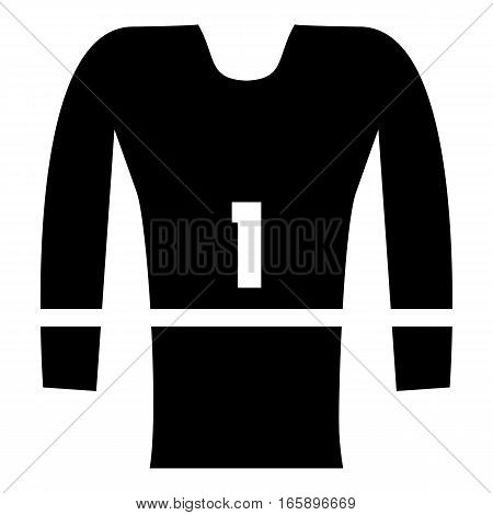 Sport uniform icon. Simple illustration of sport uniform vector icon for web