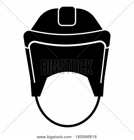 Hockey helmet icon. Simple illustration of hockey helmet vector icon for web