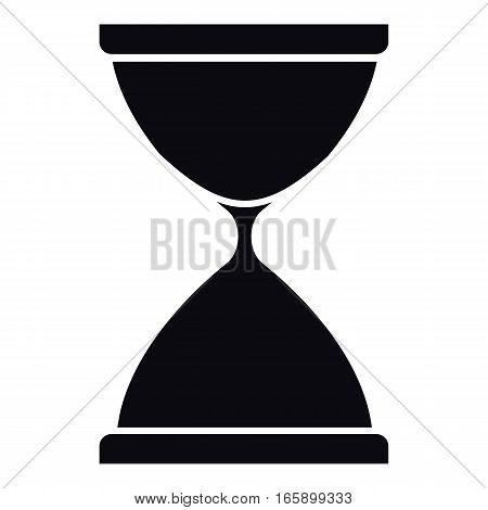 Sandglass icon. Simple illustration of sandglass vector icon for web