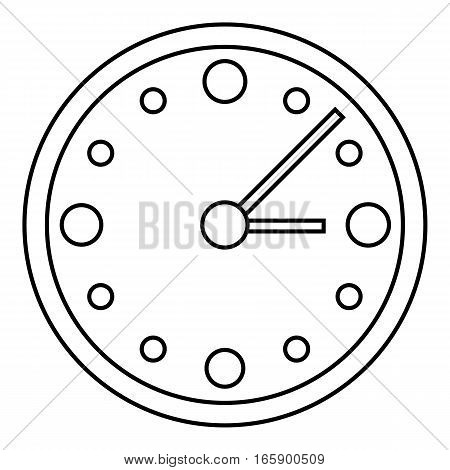 Big wall clock icon. Outline illustration of big wall clock vector icon for web