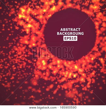 Background Explosion Of Glowing Particles. Modern Backdrop. Technology Vector Concept.