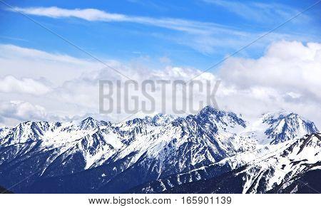 View landscape at Meili Snow Mountain