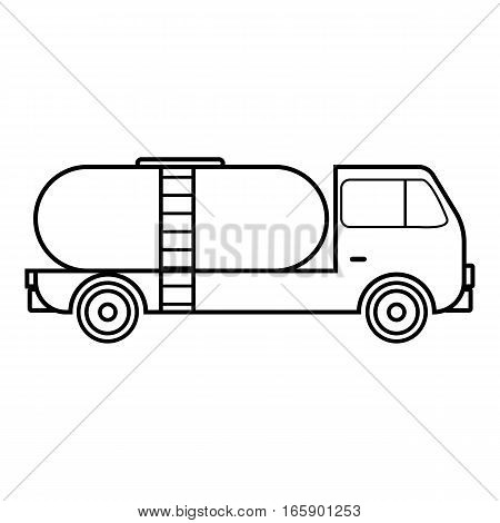 Tank truck icon. Outline illustration of tank truck vector icon for web