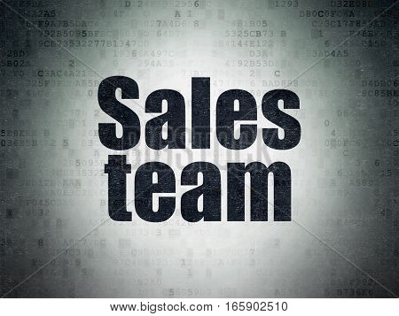 Advertising concept: Painted black word Sales Team on Digital Data Paper background