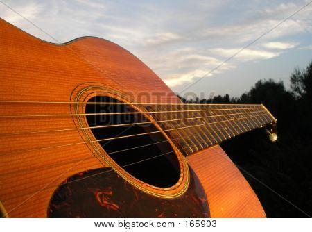 Relaxing Guitar At Sundown