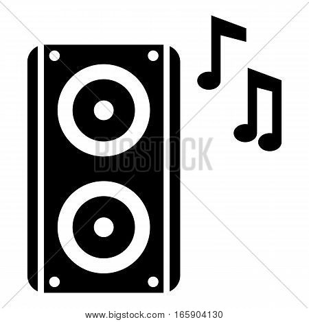 Subwoofer icon. Simple illustration of subwoofer vector icon for web