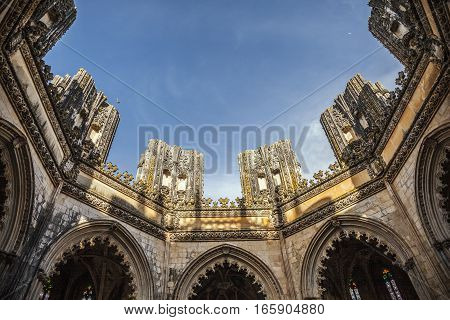 Beautiful Mosteiro da Batalha without roof, Portugal