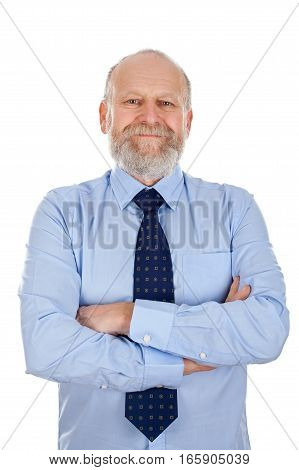 Picture of a confident businessman having the arms crossed