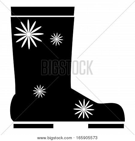 Rubber boot icon. Simple illustration of rubber boot vector icon for web
