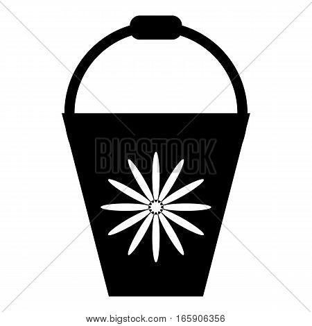 Bucket icon. Simple illustration of bucket vector icon for web