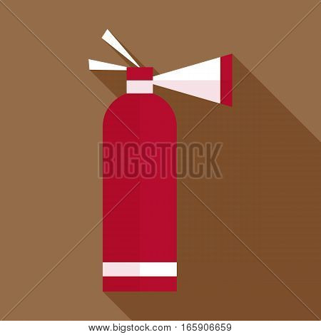 Fire extinguisher icon. Flat illustration of fire extinguisher vector icon for web