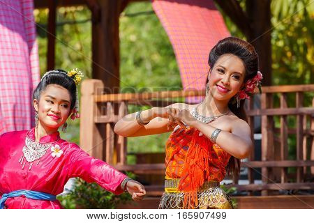 Bangkok, Thailand - January 14 2016: Participants Take Part In The Celebration Of Thai Traditional C