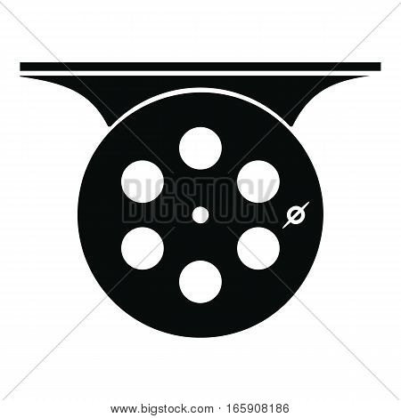 Spinning reel icon. Simple illustration of spinning reel vector icon for web