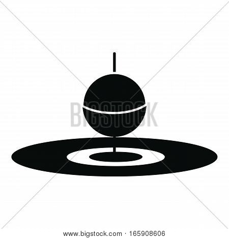 Small floating bobber icon. Simple illustration of small floating bobber vector icon for web