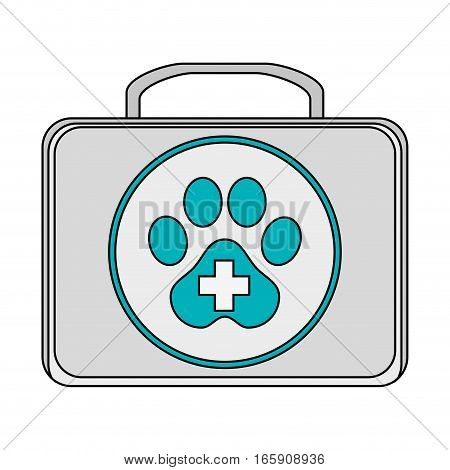 Dog First Aid box icon over white background. colorful design. vector illustration