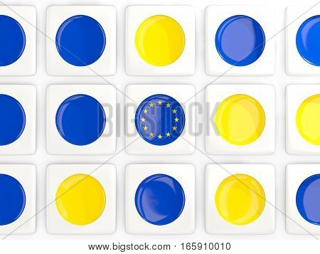 Mosaic Background With Flag Of European Union