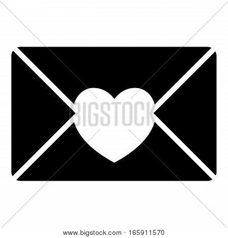 Nice love letter icon. Simple illustration of nice love letter vector icon for web