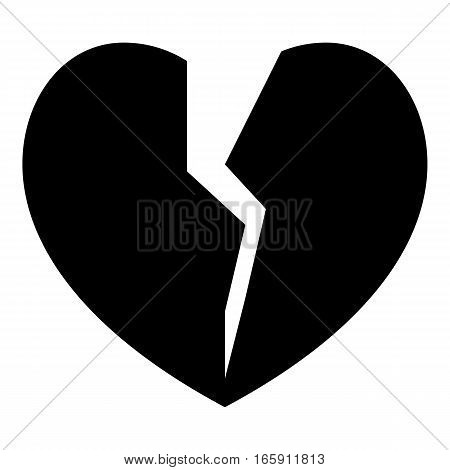 Broken heart icon. Simple illustration of broken heart vector icon for web