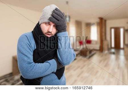 Exhausted Man Feeling Bad And Having Headache