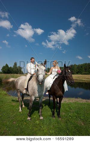 Hochzeit Pferd ritt