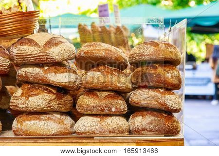 Freshly Baked Breads On Display