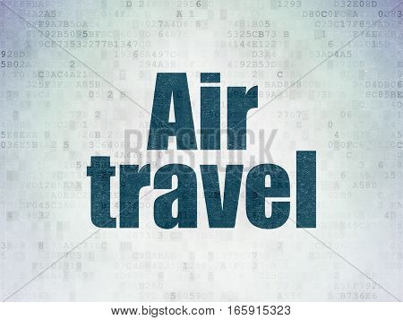 Tourism concept: Painted blue word Air Travel on Digital Data Paper background