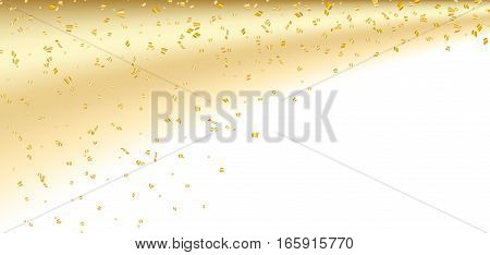 Gold White Confetti Background