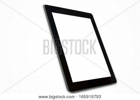 Tablet computer isolated on white background .