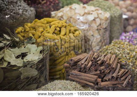 Dubai Spice Souk Or The Old Souk Is A Traditional Market In Dubai, United Arab Emirates (uae), Selli