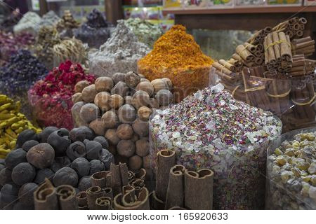 Dubai Spice Souk Or The Old Souk Is A Traditional Market In Dubai, United Arab Emirates (uae), Selli