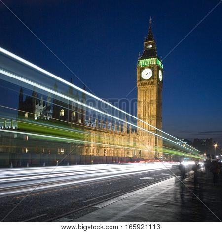 Big Ben, London. Long exposure night views of the iconic London landmark Big Ben.