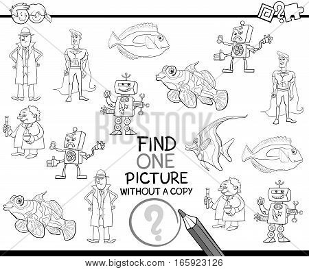 Find Single Picture Coloring Page